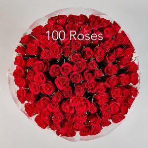 100 Red Royal Roses