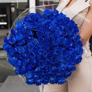 100 Blue Roses
